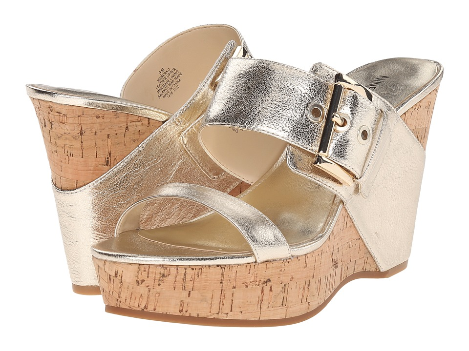 Nine West - Berko (Light Gold Metallic) Women's Shoes