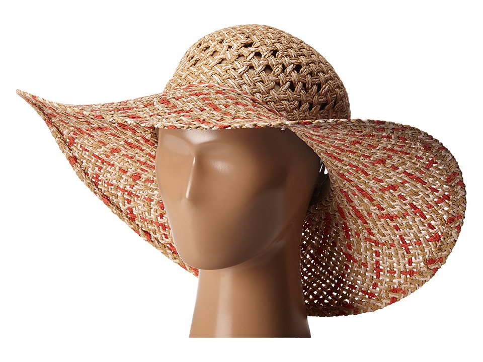BCBGeneration - Eyelet Woven Floppy Hat (Wheat) Caps