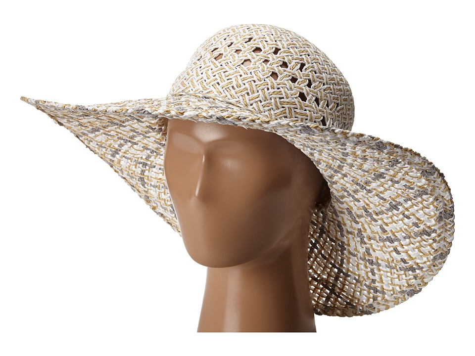 BCBGeneration - Eyelet Woven Floppy Hat (White) Caps
