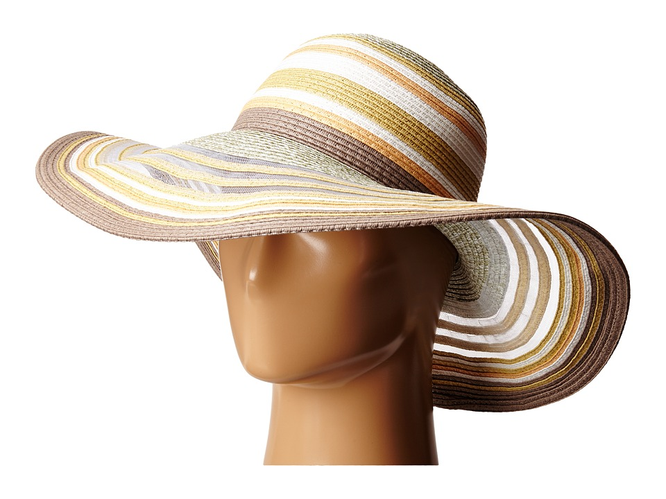 BCBGeneration - Sheerly Striped Floppy Hat (White) Caps