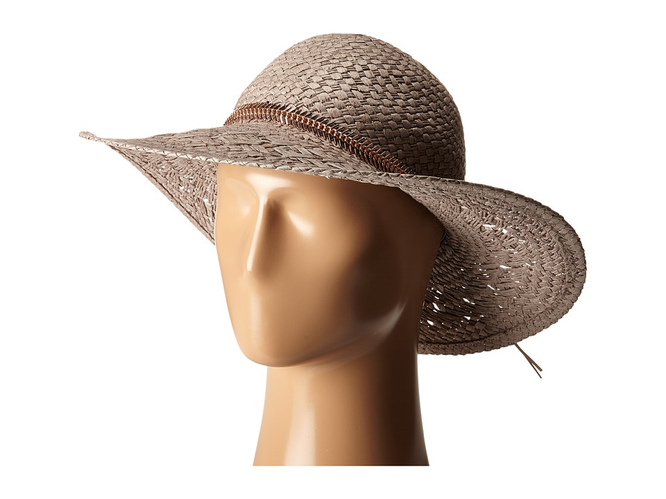 BCBGeneration - Feather Chain Floppy Hat (Taupe) Caps