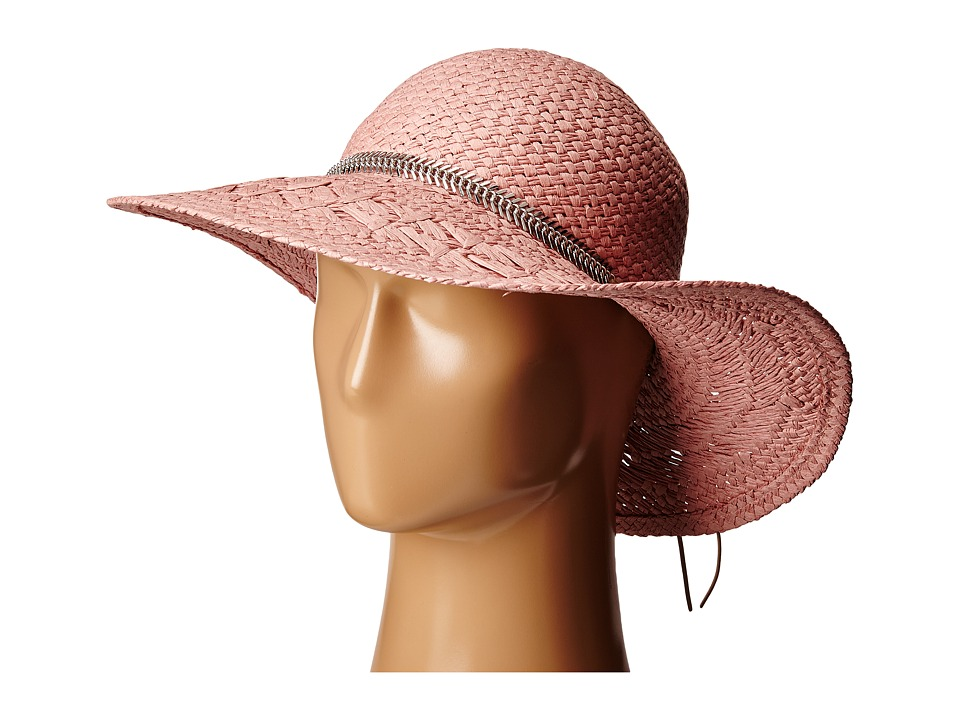 BCBGeneration - Feather Chain Floppy Hat (Whisper Pink) Caps