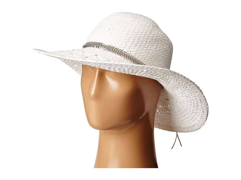 BCBGeneration - Feather Chain Floppy Hat (White) Caps