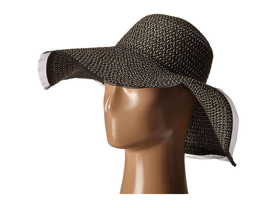 BCBGeneration - Sheer Edge Floppy Hat (Black) Caps