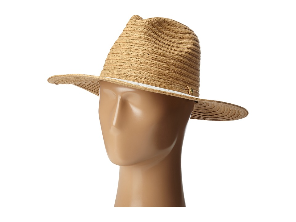 BCBGeneration - Lace Brim Panama Hat (Wheat) Caps