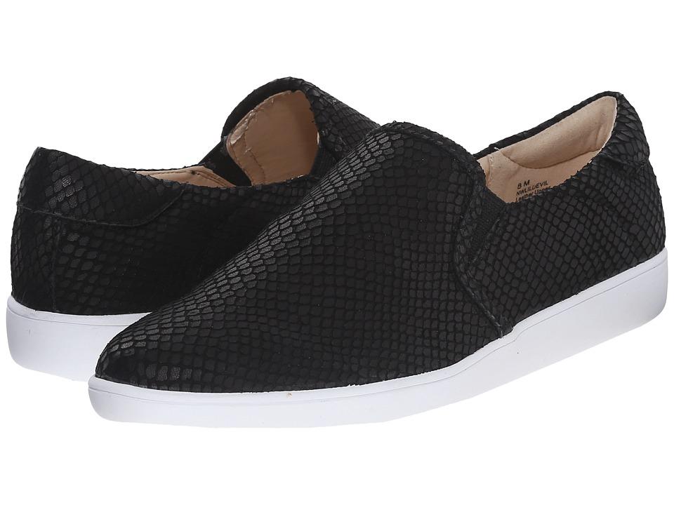 Nine West - Lildevil (Black/Black2 Leather) Women's Slip on Shoes