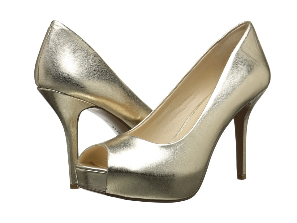 Nine West - Qtpie (Light Gold Metallic) Women's Shoes