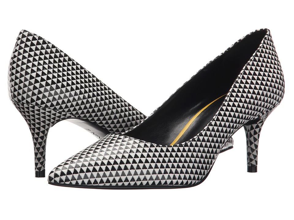 Nine West - Margot (Black/White Leather) High Heels