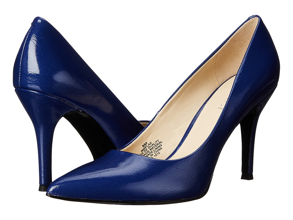 Nine West - Flax (Dark Blue Patent Synthetic) High Heels