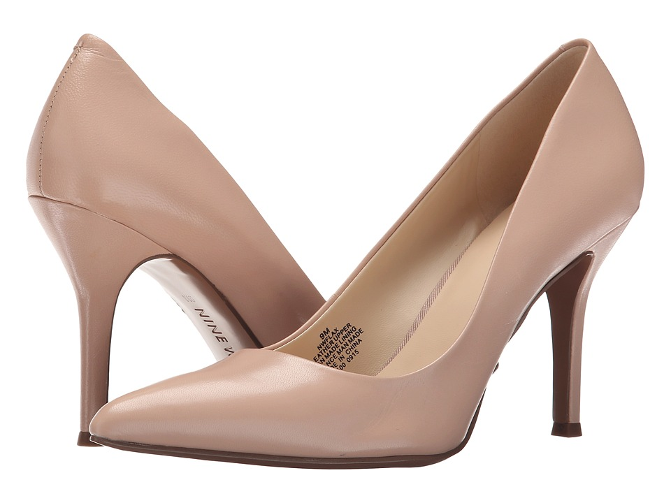 Nine West Flax Light Pink Leather High Heels