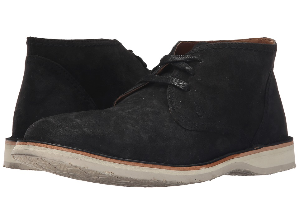 John Varvatos - Hipster Chukka (Mineral Black) Men's Lace-up Boots