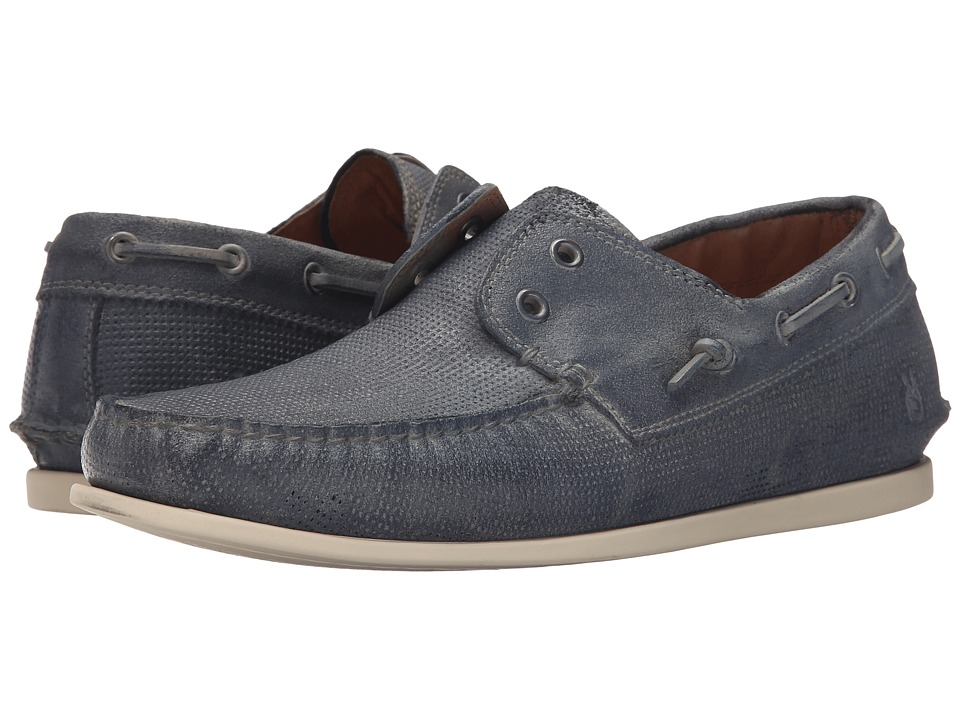 John Varvatos - Schooner Boat (Steel Blue) Men's Slip on Shoes