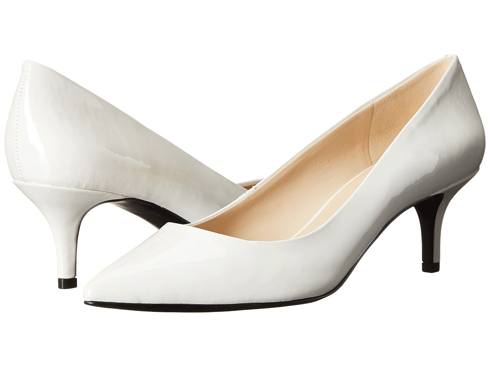 Nine West - Xeena (White Synthetic) Women's 1-2 inch heel Shoes