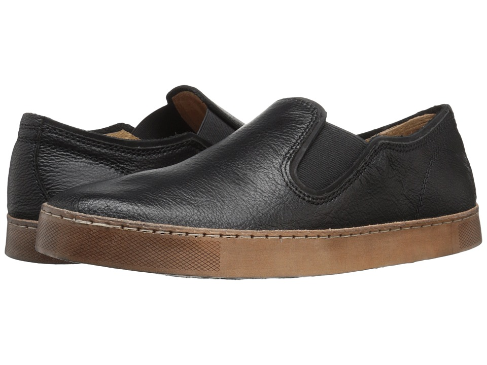 John Varvatos - Mick Side Gore (Black) Men's Slip on Shoes