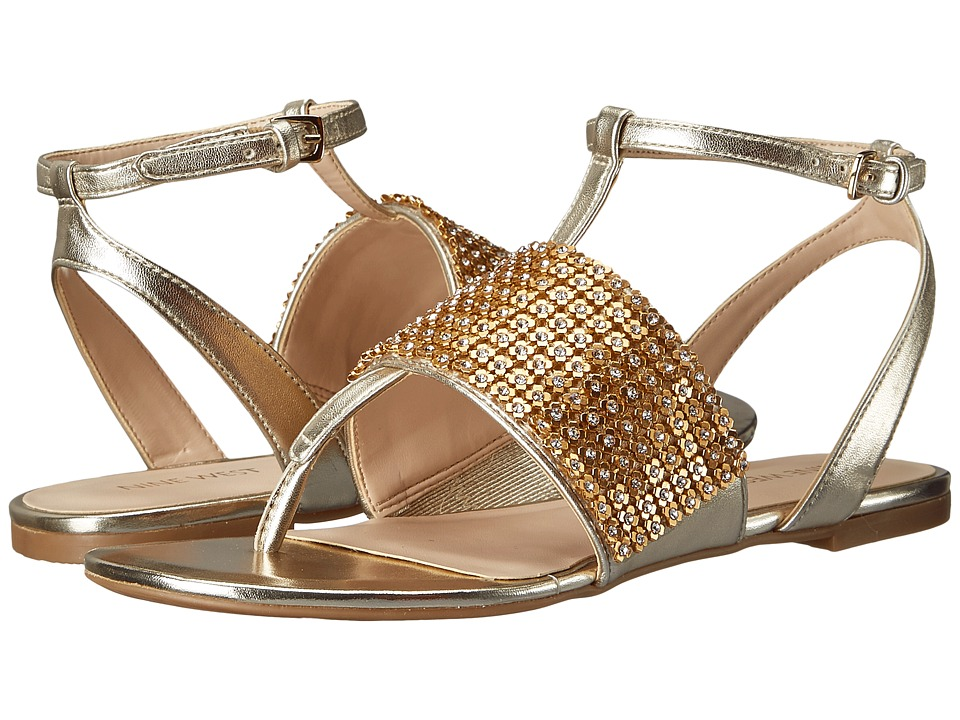 Nine West - Sioban (Light Gold Synthetic) Women