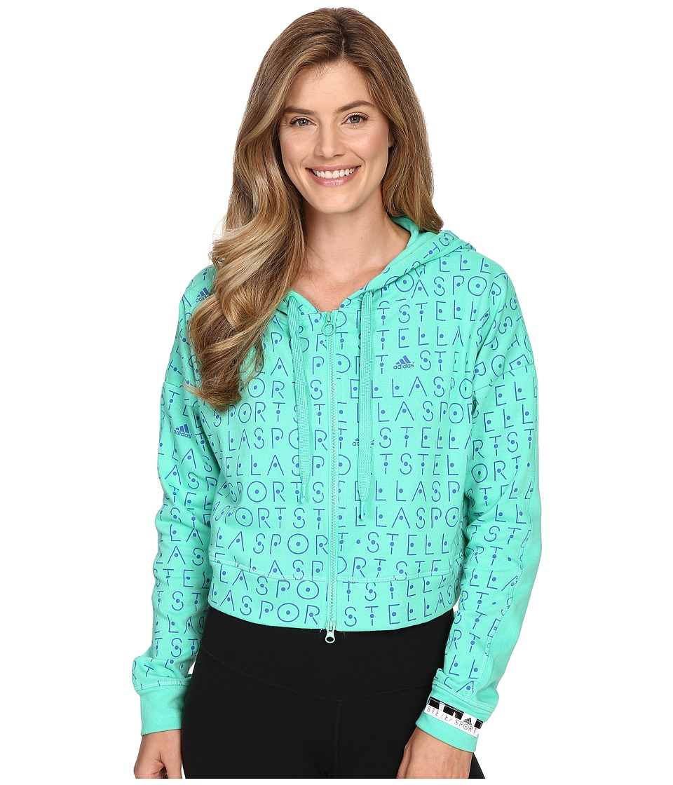 adidas - Full Zip Hoodie AH8847 (Bold Blue/Bright Green) Women's Sweatshirt