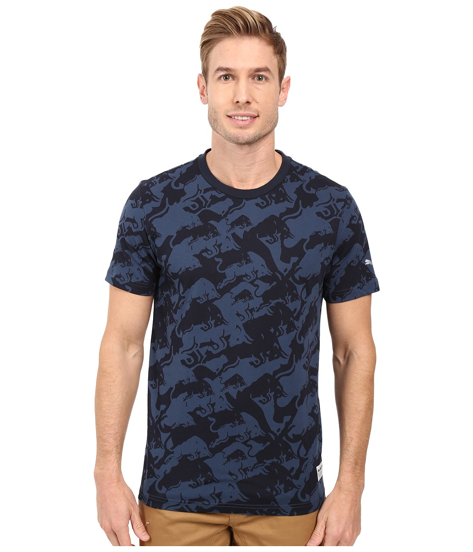PUMA - IRBR LS Allover Tee (Total Eclipse) Men's T Shirt