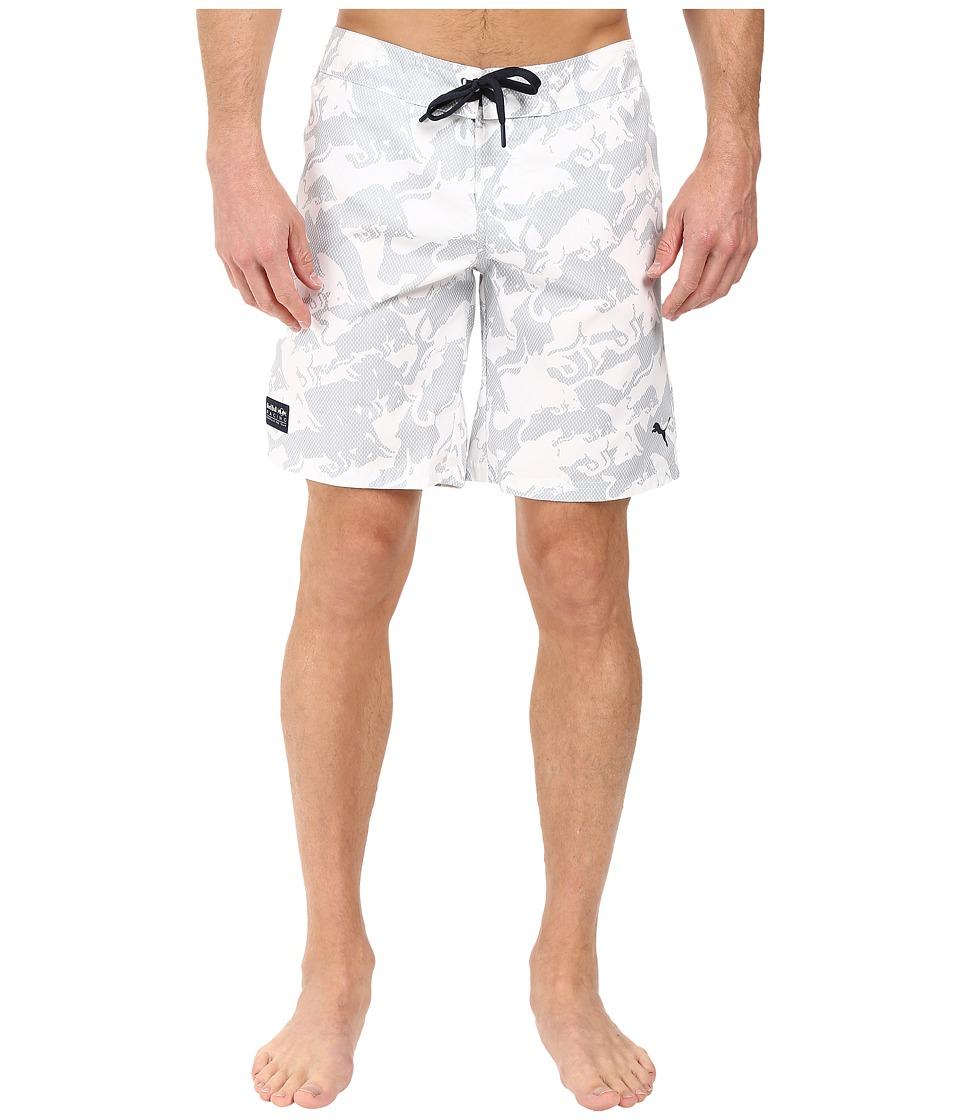 PUMA - IRBR LS Boardshorts (White) Men's Swimwear