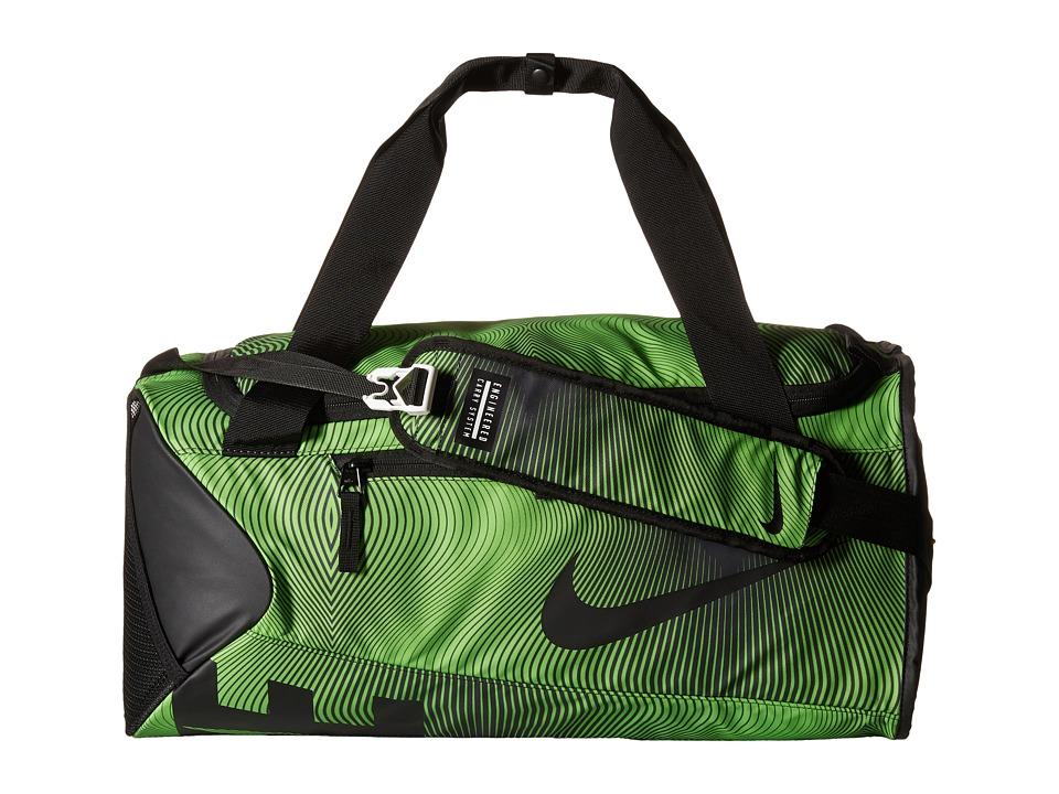 Nike - New Duffel Graphic Small (Action Green/Black/Black) Duffel Bags