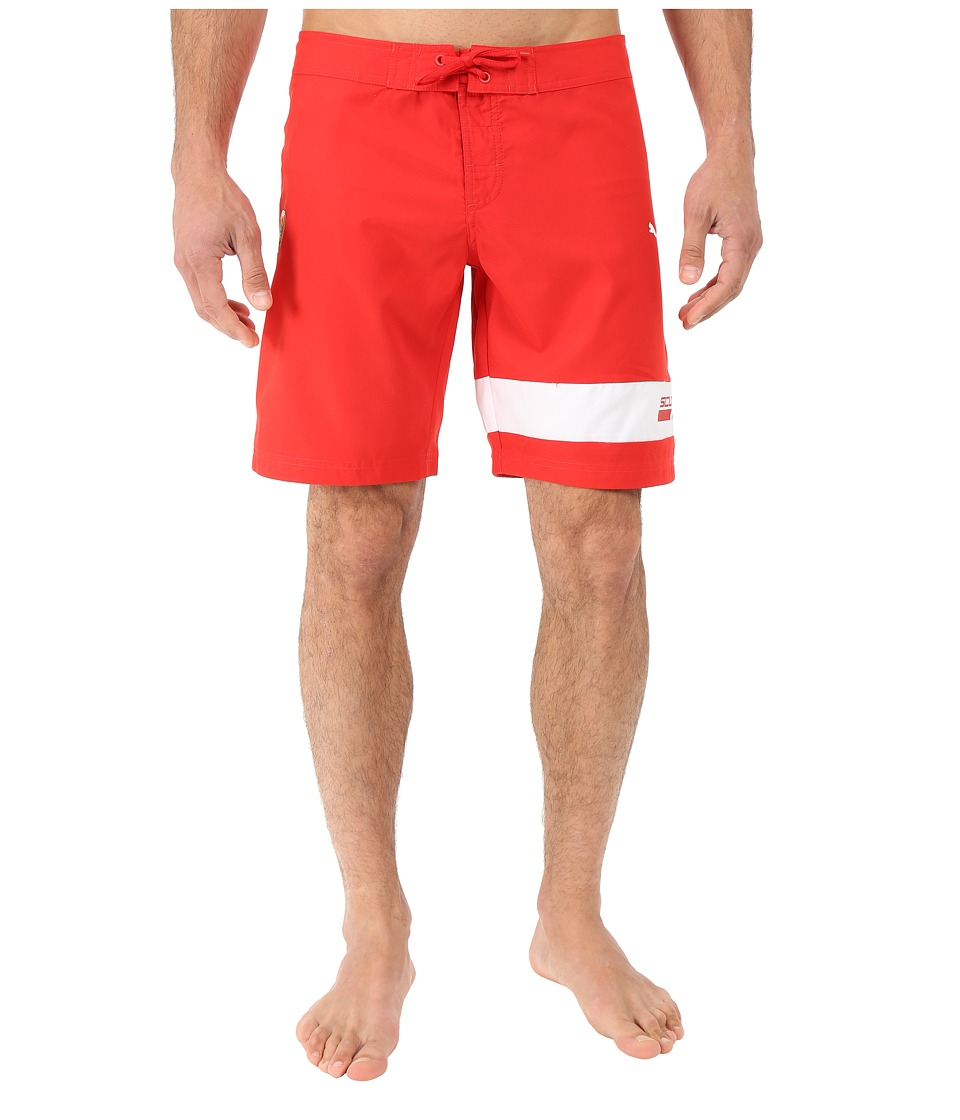 PUMA - SF Boardshorts (Rosso Corsa) Men's Swimwear