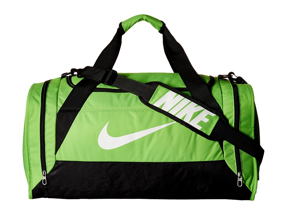 Nike - Brasilia 6 Medium Duffel (Action Green/Black/White) Duffel Bags