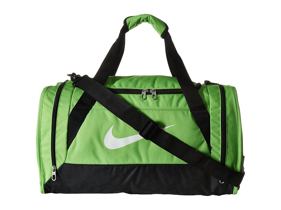 Nike - Brasilia 6 Small Duffel (Action Green/Black/White) Duffel Bags