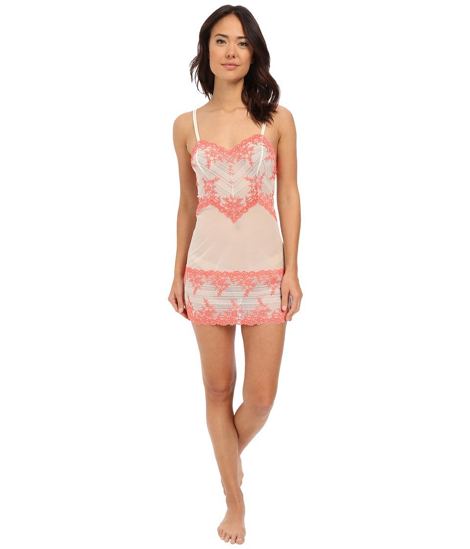 Wacoal - Embrace Lace Chemise (Anitque White/Sugar Coral) Women's Lingerie