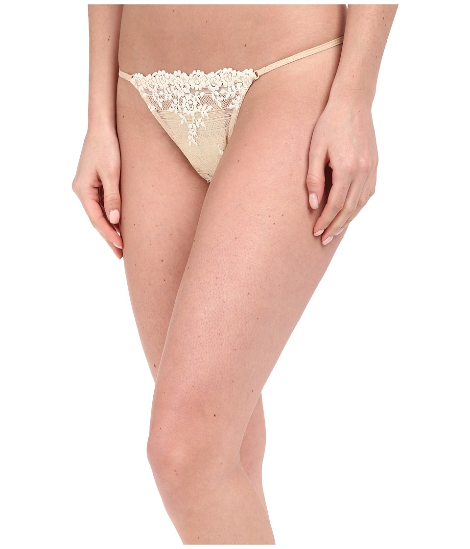Wacoal - Embrace Lace Thong (Natural Nude/Ivory) Women's Underwear
