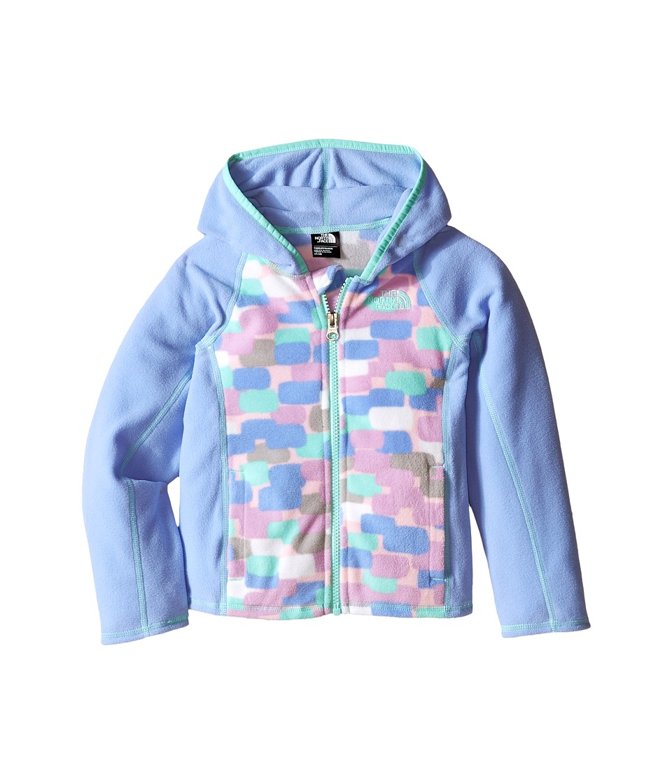 The North Face Kids - Glacier Full Zip Hoodie (Toddler) (Grapemist Blue Block Print) Girl's Sweatshirt