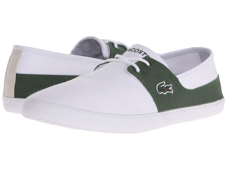 Lacoste - Marice Lace 116 1 (White/Dark Green) Men's Shoes