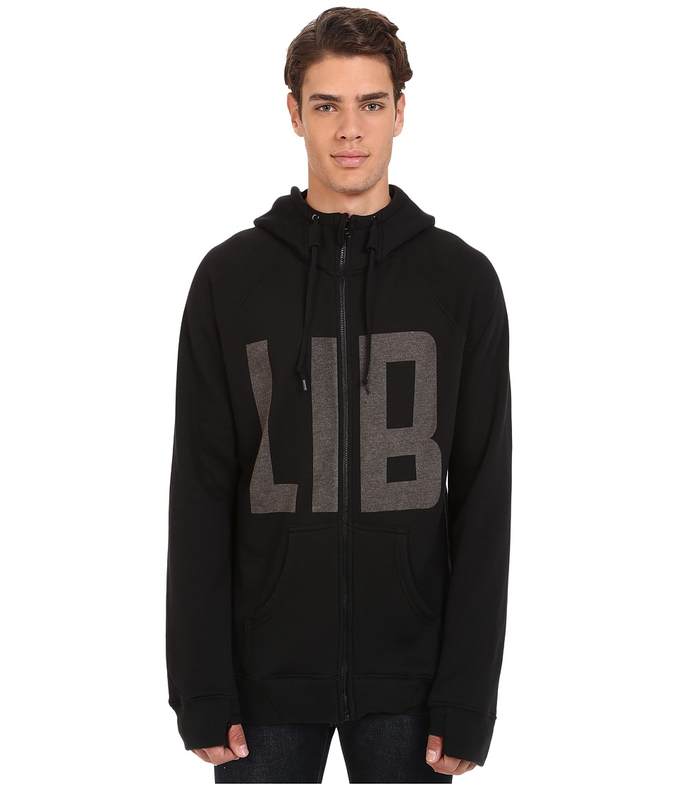 Lib Tech - Kraftsmen Hoodie (Black) Men's Sweatshirt