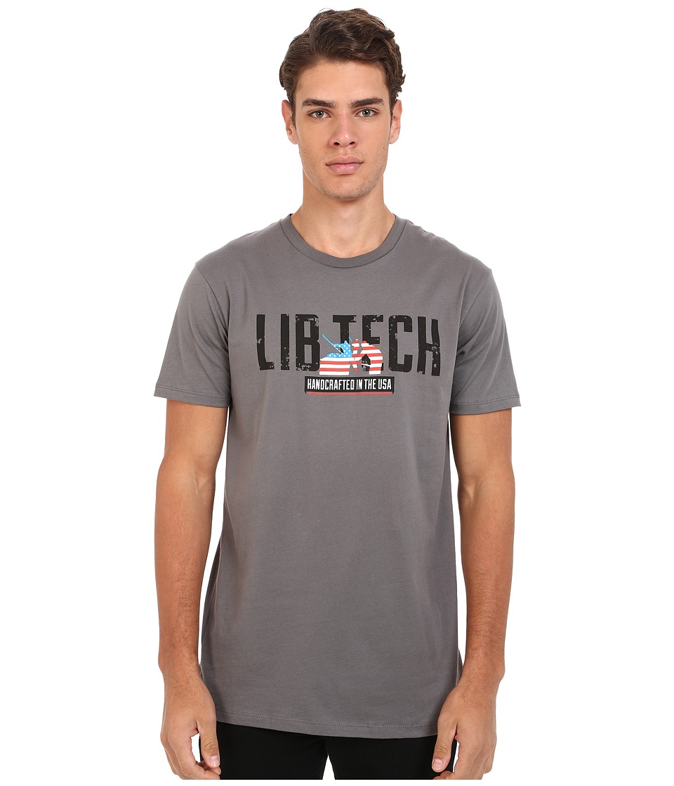 Lib Tech - Kraftsmen Tee (Charcoal) Men's T Shirt