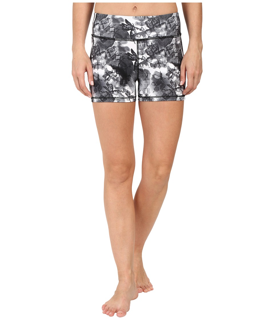PUMA - Essential Graphic Shorts (White/Black) Women's Shorts