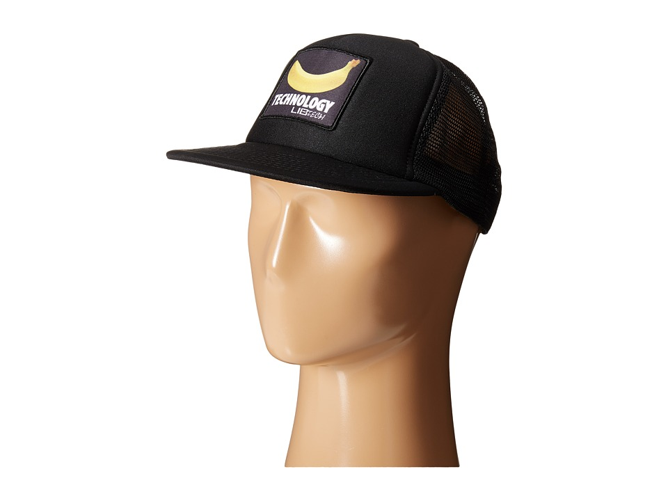 Lib Tech - Banana Trucker Hat (Black) Caps