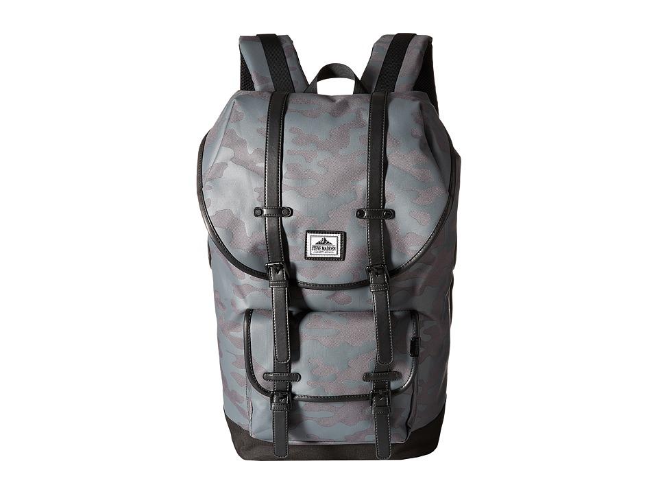 Steve Madden - Nylon Utility Backpack (Grey Camo) Backpack Bags