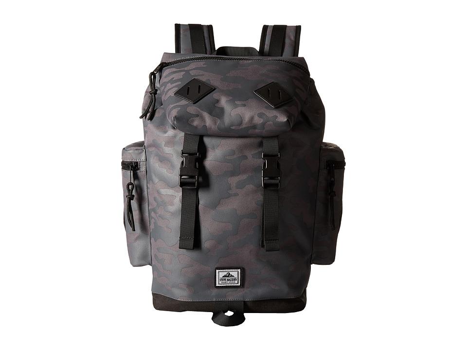 Steve Madden - Nylon Cargo Backpack (Grey Camo) Backpack Bags
