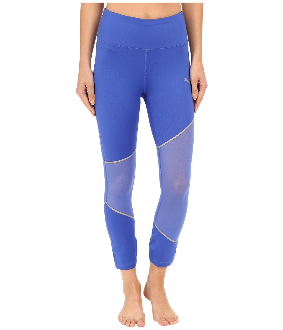 PUMA - Mesh Clash Tights (Dazzling Blue/Silver) Women's Casual Pants