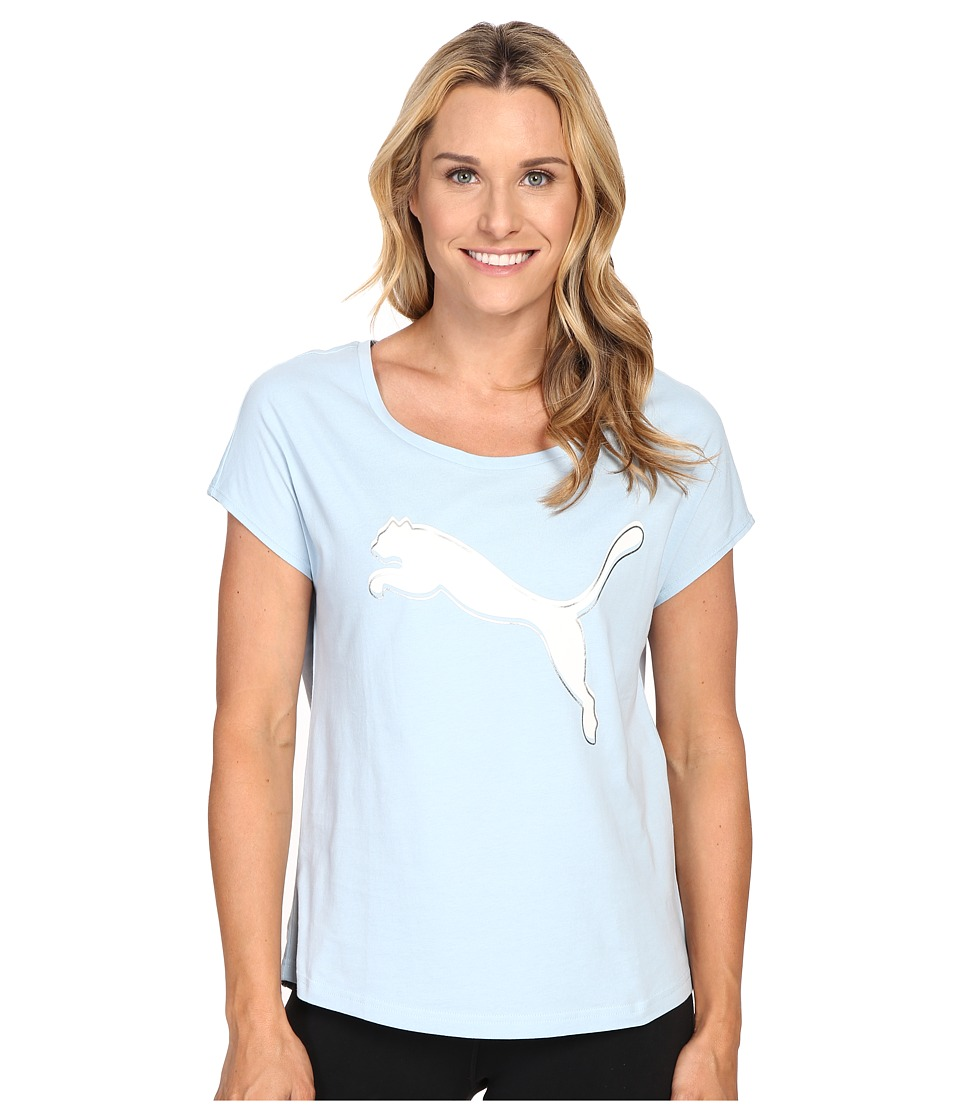 PUMA - Summer Cat Tee (Cool Blue) Women's T Shirt