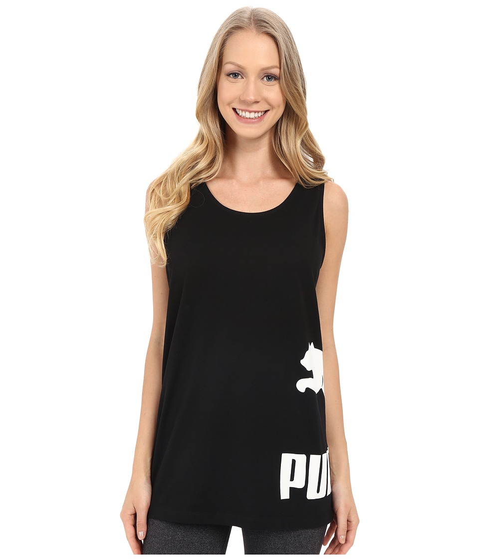 PUMA - No. 1 Logo Tank Top (Black) Women's Sleeveless