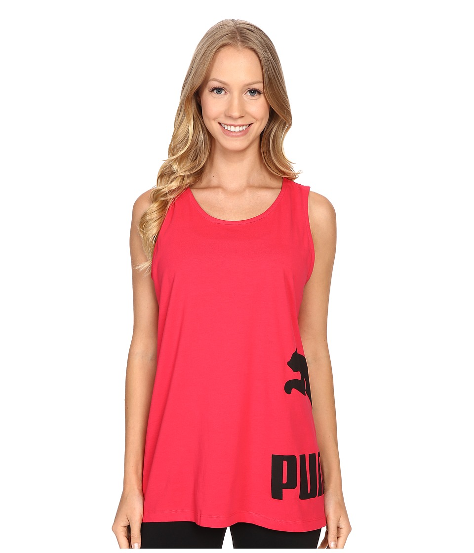 PUMA - No. 1 Logo Tank Top (Rose Red) Women's Sleeveless