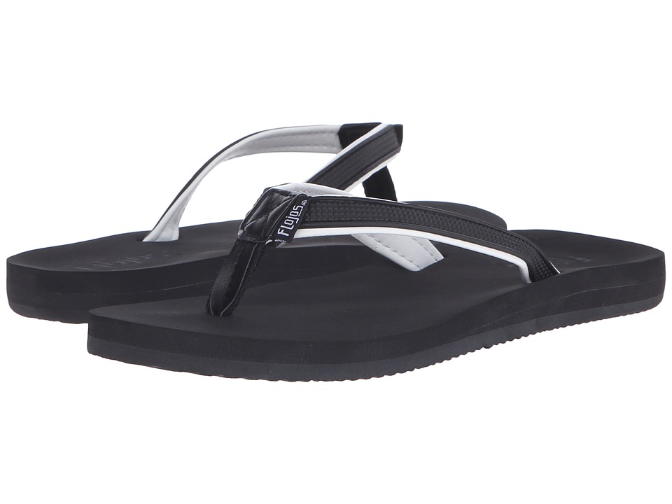 Flojos - Maya (Black/White) Women's Sandals