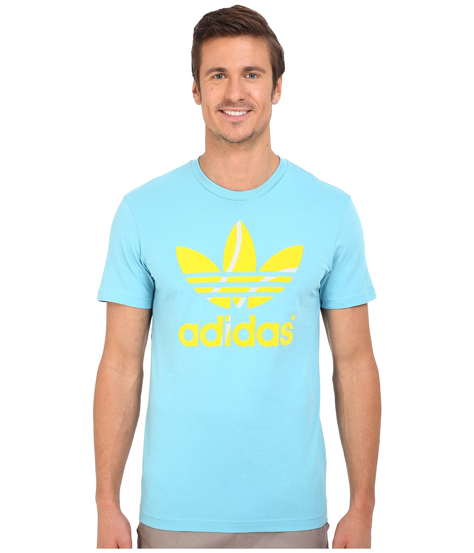 adidas Originals - Flock Tennis Ball Tee (Blanch Sky/Equipment Yellow) Men's T Shirt