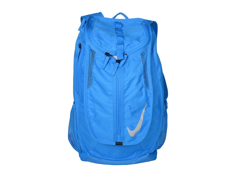 Nike - Football Shield Backpack (Photo Blue/Photo Blue/Metallic Silver) Backpack Bags