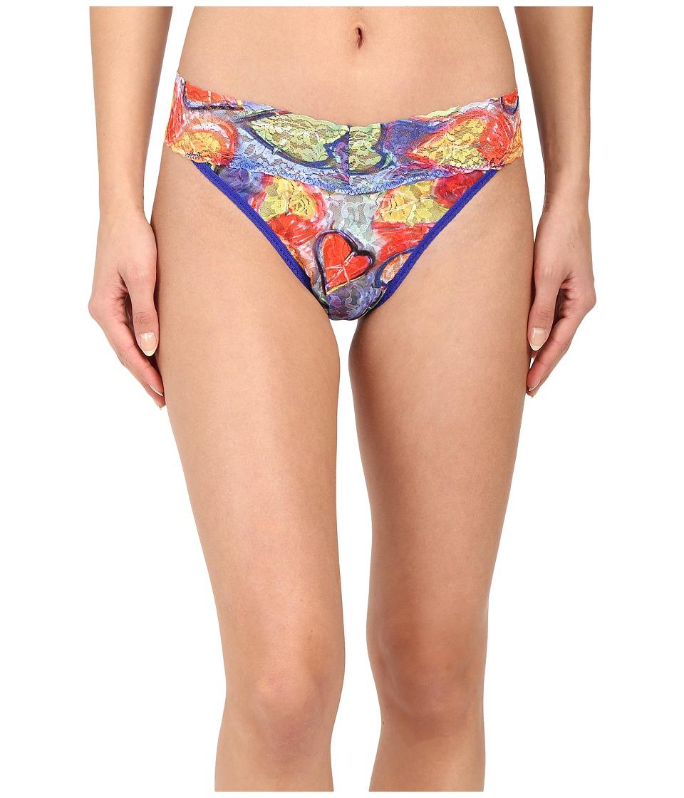 Hanky Panky - Peacelove Original Rise Thong (Multicolor) Women's Underwear