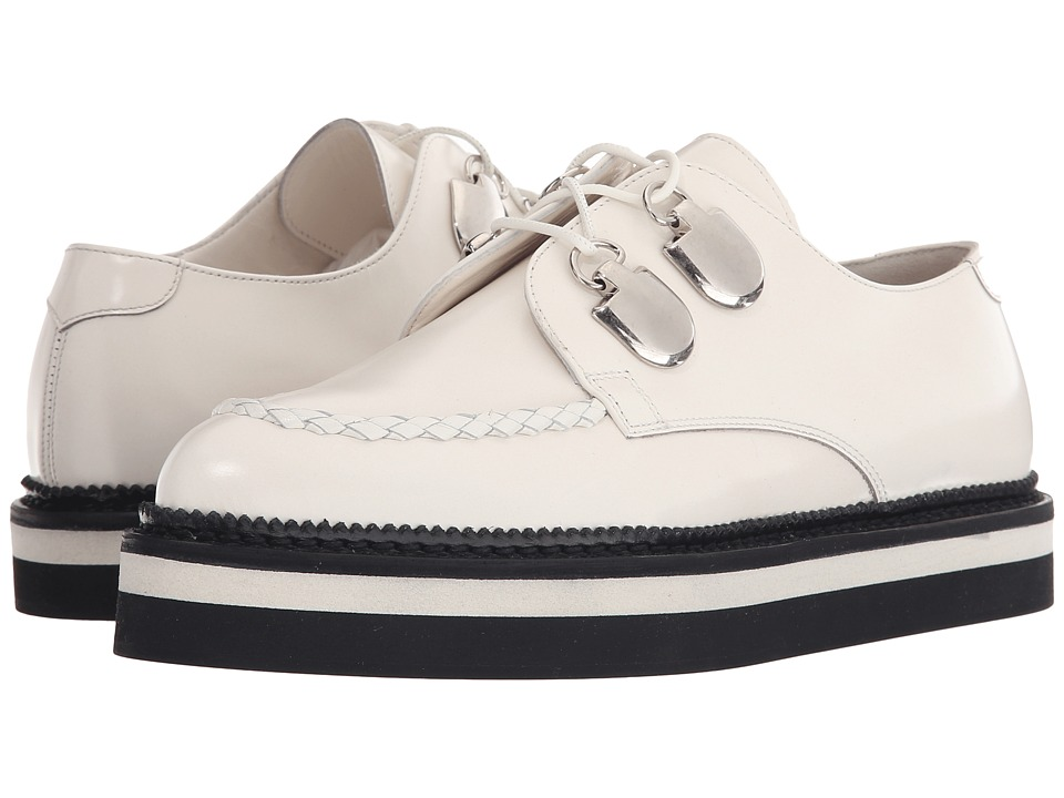 Alexander McQueen - Scarpa Sport Pelle S.Gomma (Ivory/Ivory) Women's Lace up casual Shoes