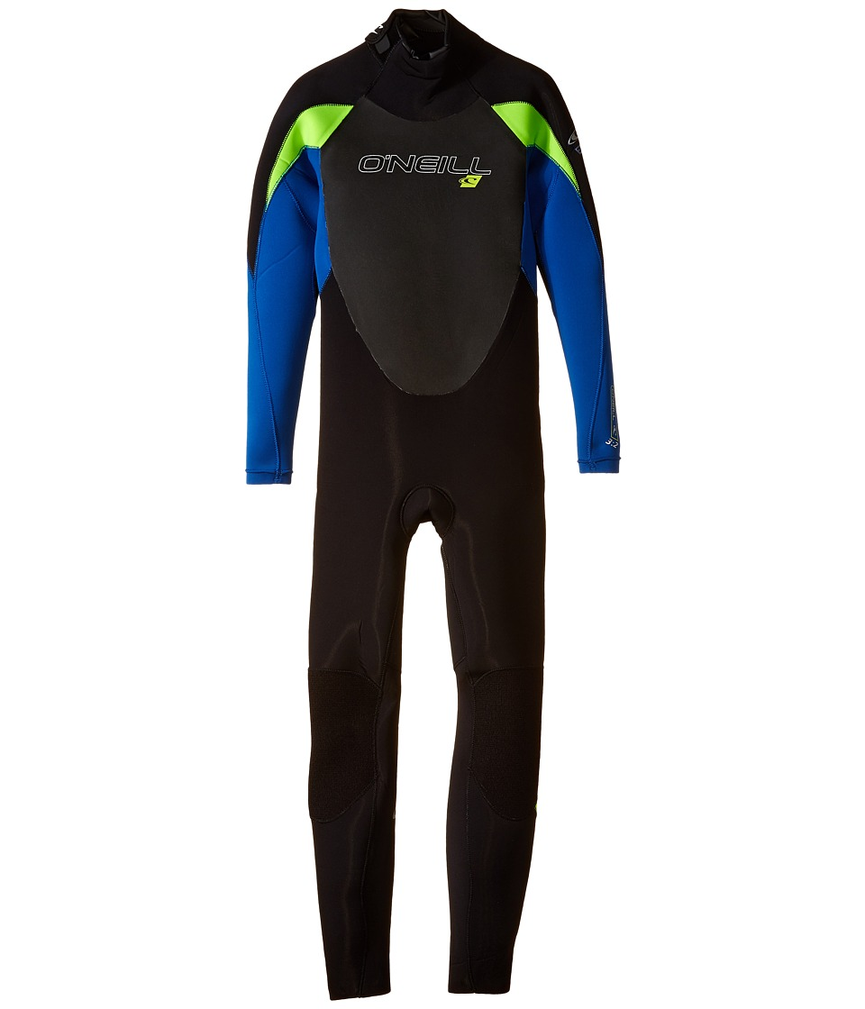 O'Neill Kids - Youth Epic 3/2 (Little Kids/Big Kids) (Black/Deepsea/Dayglo) Boy's Wetsuits One Piece