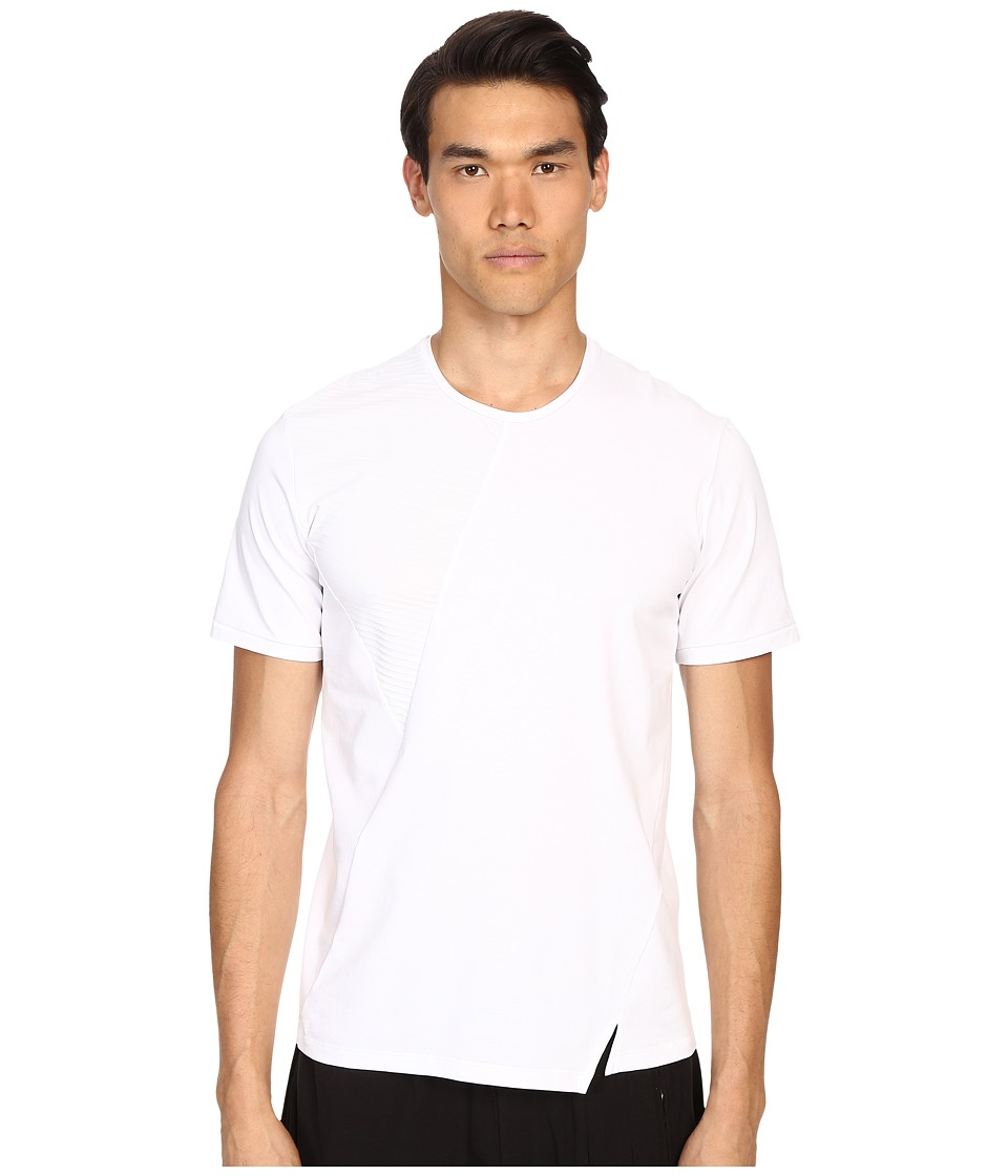 CoSTUME NATIONAL - Cross Cut Panel Shirt (Optic White) Men's T Shirt