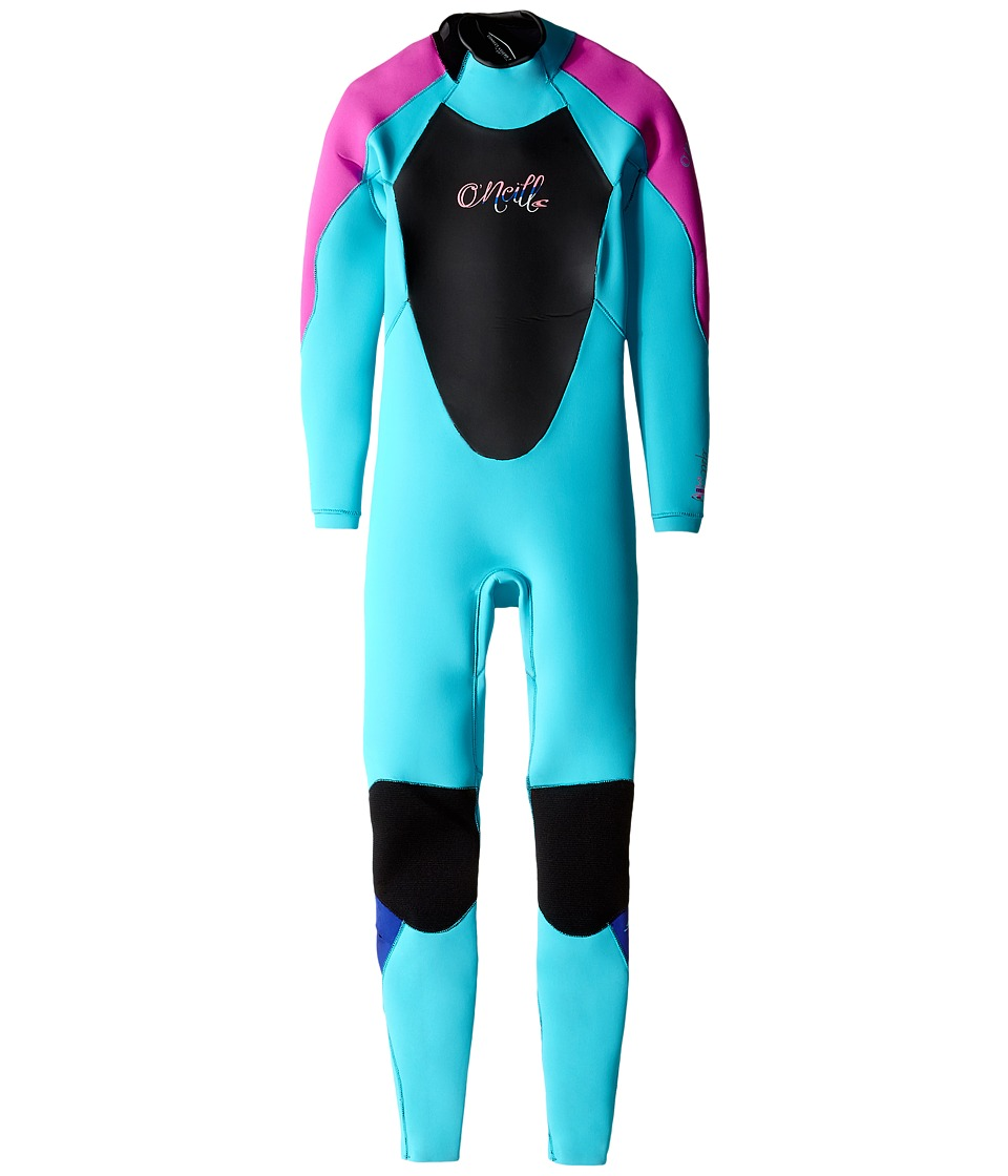 O'Neill Kids - Epic 3/2 (Little Kids/Big Kids) (Light Aqua/Berry/Cobalt) Girl's Wetsuits One Piece