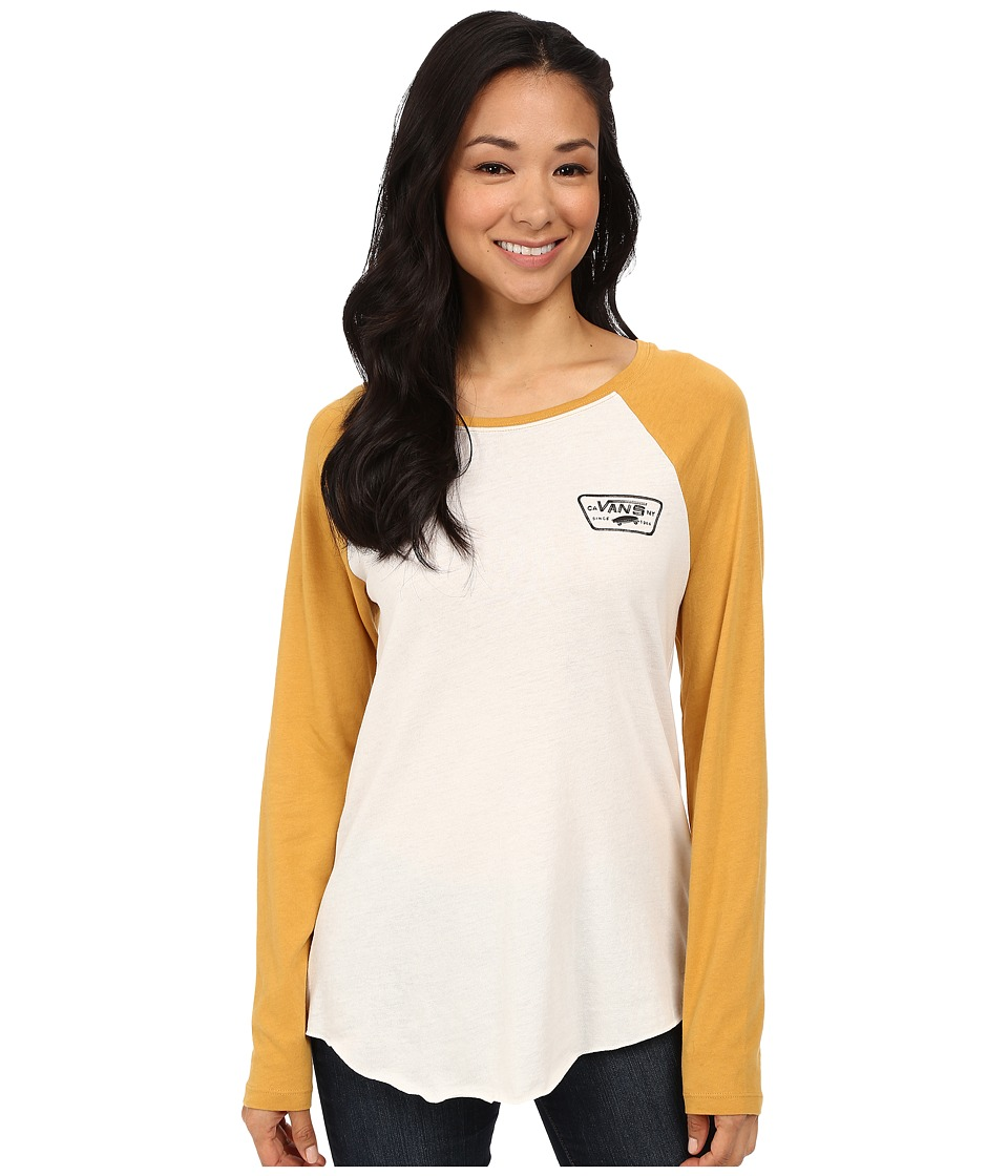 Vans - Authentic Rags Top (White Sand/Spruce Yellow) Women's T Shirt