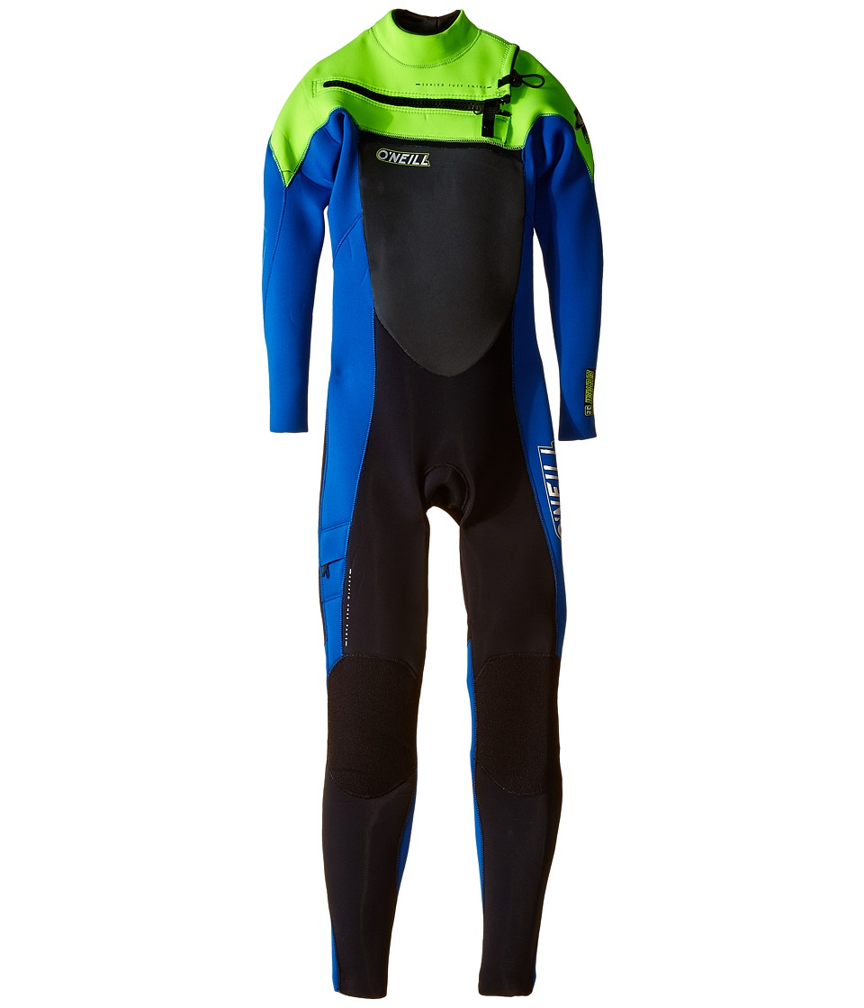 O'Neill Kids - Youth Superfreak Full Zip 3/2 (Big Kids) (Black/Deepsea/Dayglo) Boy's Wetsuits One Piece